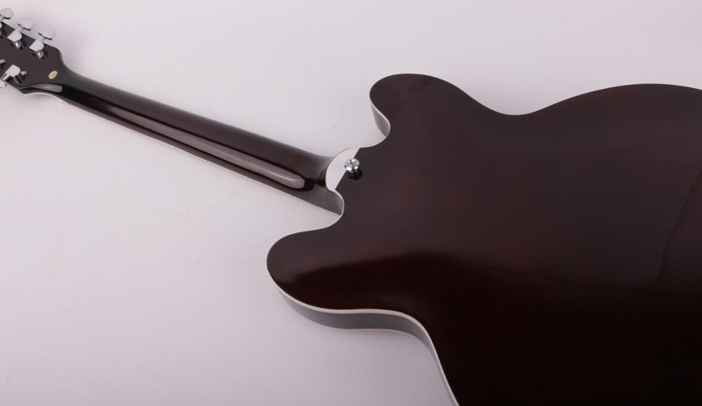Good quality left hand lefty jazz hollow body f hole electric guitar free shipping enlarge