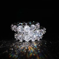 europe america fashion luxury sparkles crystal ring for women 925 silver color female wedding ring ladies jewelry accessories