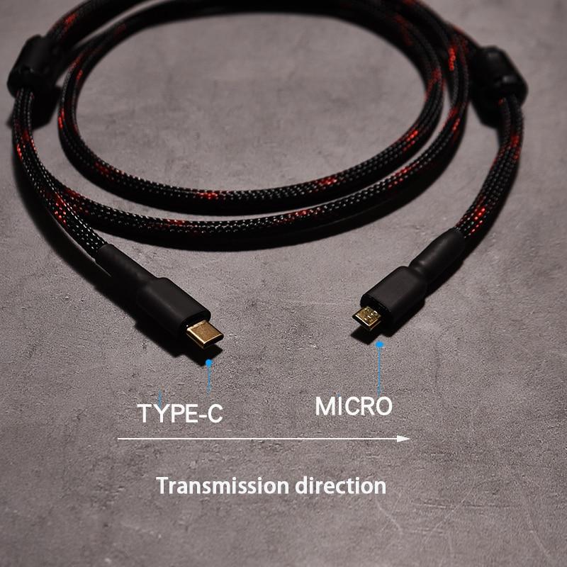 Cable USB de alta calidad tipo c a micro mini B, Cable...