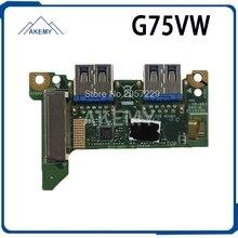 Original pour For Asus G75V G75VW G75VX ordinateur portable NIC ordinateur portable Audio USB IO carte Interface carte son lecteur de carte testé bien