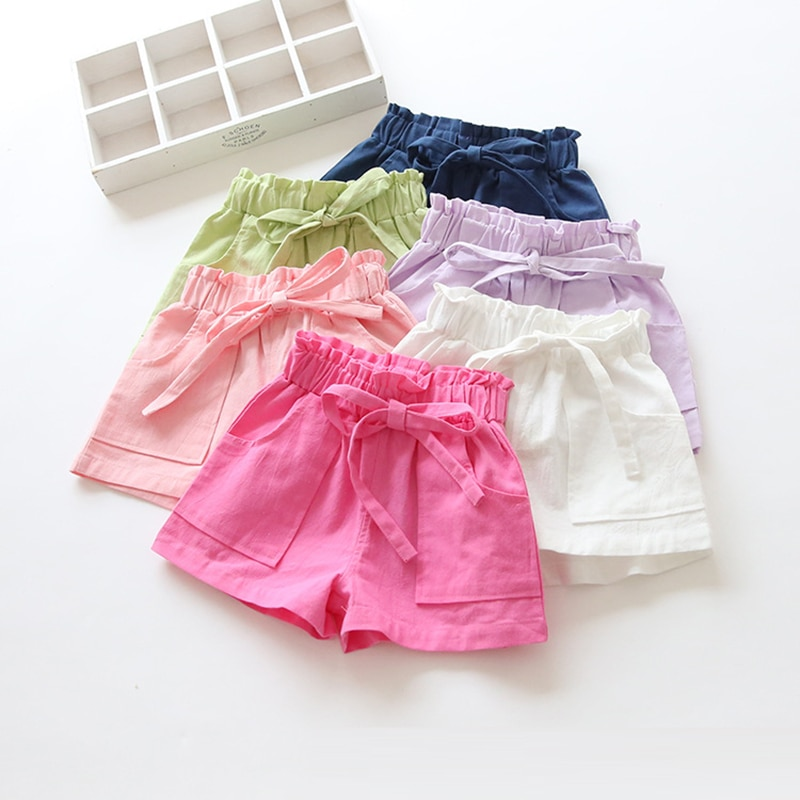 New Summer Candy Solid Color Children Kids Baby Toddler Girls Clothes Cotton Shorts Pants for