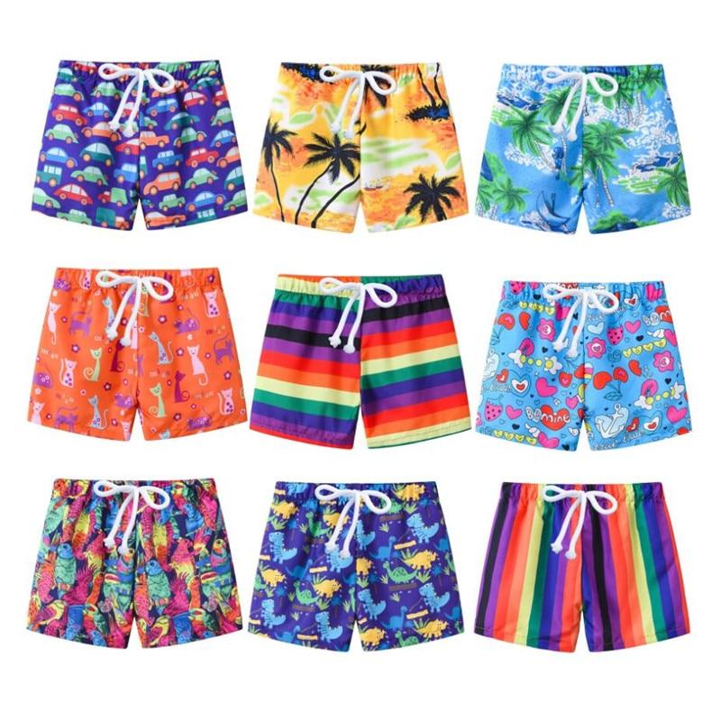 2020 New Kids Summer Swim Shorts Baby Boys Girls Swimwear Toddler Kids Fashion Print Swimwear Swimsu