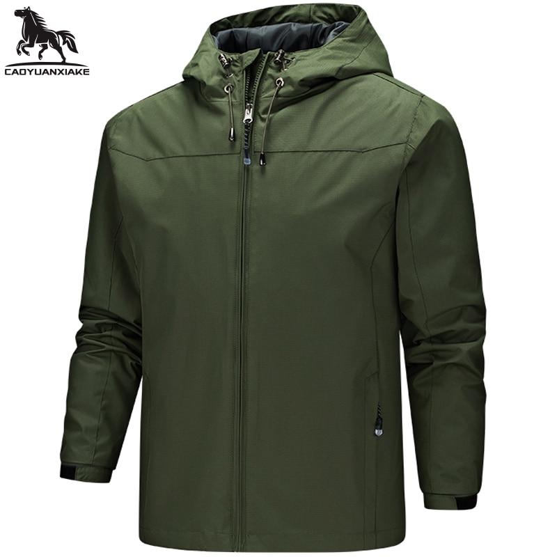 Движение ветровка мужская Новинка осени сплошной цвет Мужская куртка на каждый день, мужские куртки с капюшоном, пальто Молодежные ветровк...