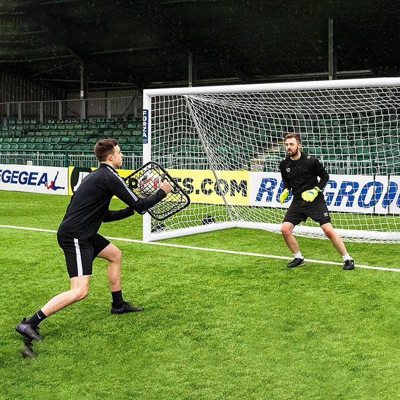 Football Goalkeeper Training Rebound Net Portable Soccer Training Equipment Goalkeeper Handheld Rebound Net Sensitivity Training