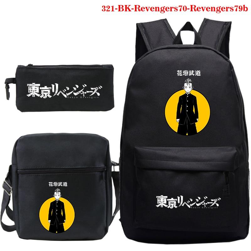 New Tokyo Revengers Print Boys Girls Backpack Cartoon Teenage Cosplay Canvas Travel Bag Schoolbag Anime Tokyo Print Shoulder Bag new anime danganronpa backpack cosplay monokuma luminous canvas bag schoolbag dangan ronpa travel bags