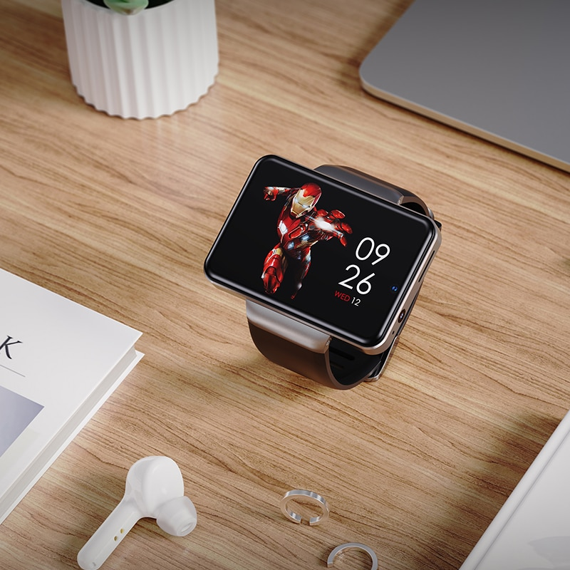 2020 NEW DM101 Max S 4G Smart Watch Phone Android 7.1 Quad Core 3GB 32GB Heart Rate Pedometer IP67 Waterproof 2.4'' Smartwatch