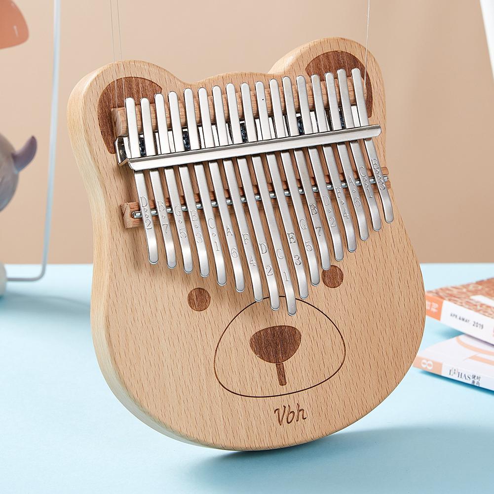 17 Keys Kalimba Thumb Piano Wood Mahogany Body Musical Instrument Tune Hammer for Beginner Kalimba Bag Best Quality