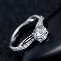 exquisite women crystal rhinestones rings for women jewelry accessories gift fashion twisted shap wedding band engagement ring
