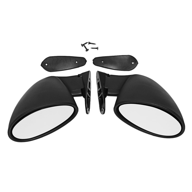 NEW-Classic Retro Door Wing Side Mirror Car Matte Rearview Mirror California Style Car Accessories Black L+R