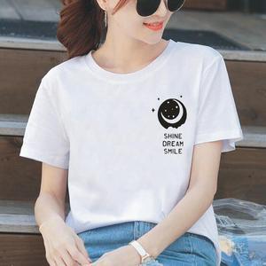 Women T Shirt Fashion Dream Smile Casual Hipster Letter Print Tee Shirt Femme Harajuku Plus Size Short Sleeve T Shirt Women Tops