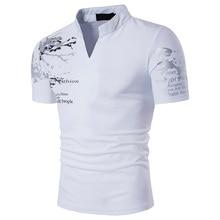 Col Mandarin à manches courtes t-shirt hommes printemps été nouveau haut hommes marque vêtements coupe ajustée coton T-Shirts