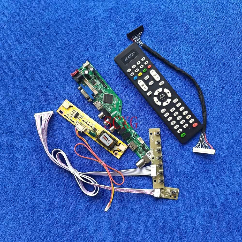 2-CCFL ل LTM190ET01/HSD190MEN4 عدة شاشات كريستال بلورية لوحة تحكم HDMI متوافق USB AV VGA 1280*1024 التناظرية إشارة LVDS 30 دبوس