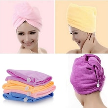 White Coral Velvet Dry Hair Bath Towel Microfiber Quick Drying Turban Super Absorbent Women Hair Cap