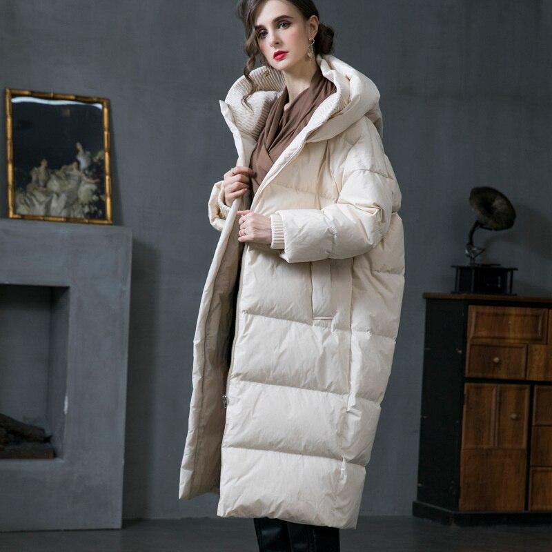 2021 الشتاء جديد وصول 90% الأبيض بطة أسفل معطف مقنعين سميكة الدافئة فضفاضة كبيرة أسفل سترة مقنعين النساء 20288