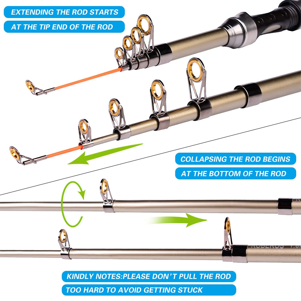 Telescopic fishing rod and reel combos complete kit, carbon fiber fishing pole, left and right hand can change enlarge