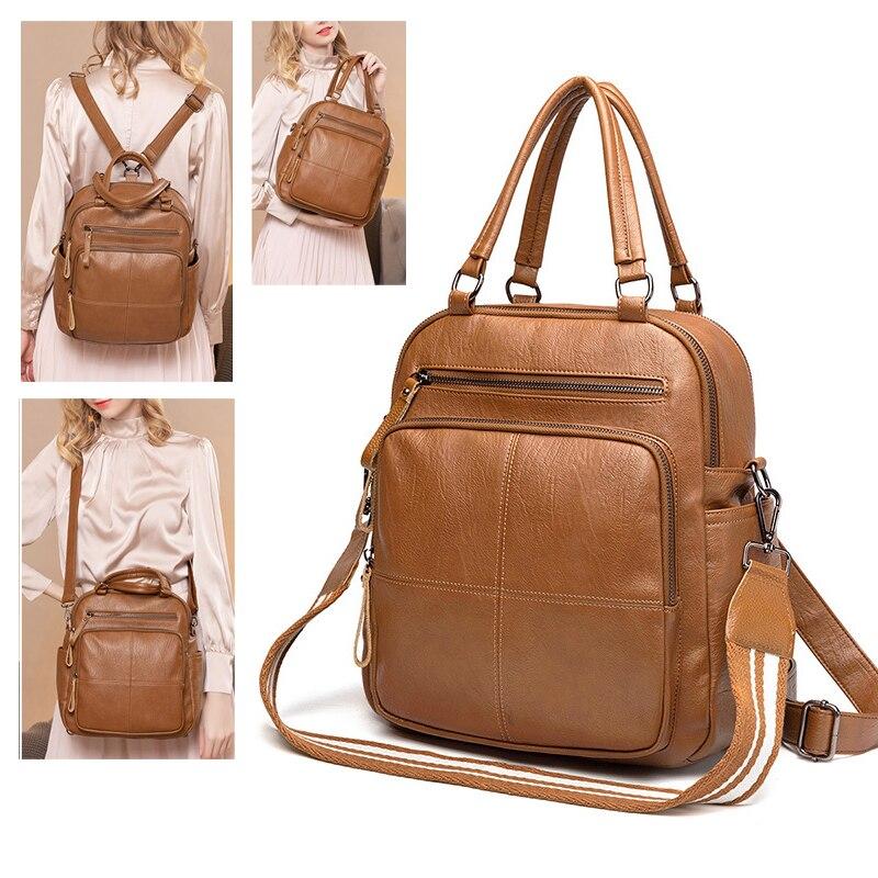 Женский рюкзак, винтажные многофункциональные сумки на плечо, рюкзаки для школьников, подростков, девочек, fashino 2021 B0087