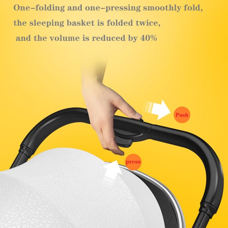 X-shaped high landscape stroller can sit, recline, two-way shock absorber, lightweight folding newborn child baby stroller enlarge