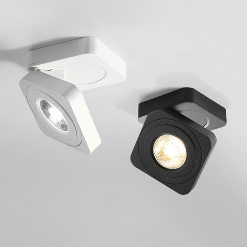 Ultra-Dünne Quadratische Klapp Rotierenden LED Downlights 5W 7W 10W COB LED Decke Spot Lichter AC220V LED Decke Lampen Innen Beleuchtung