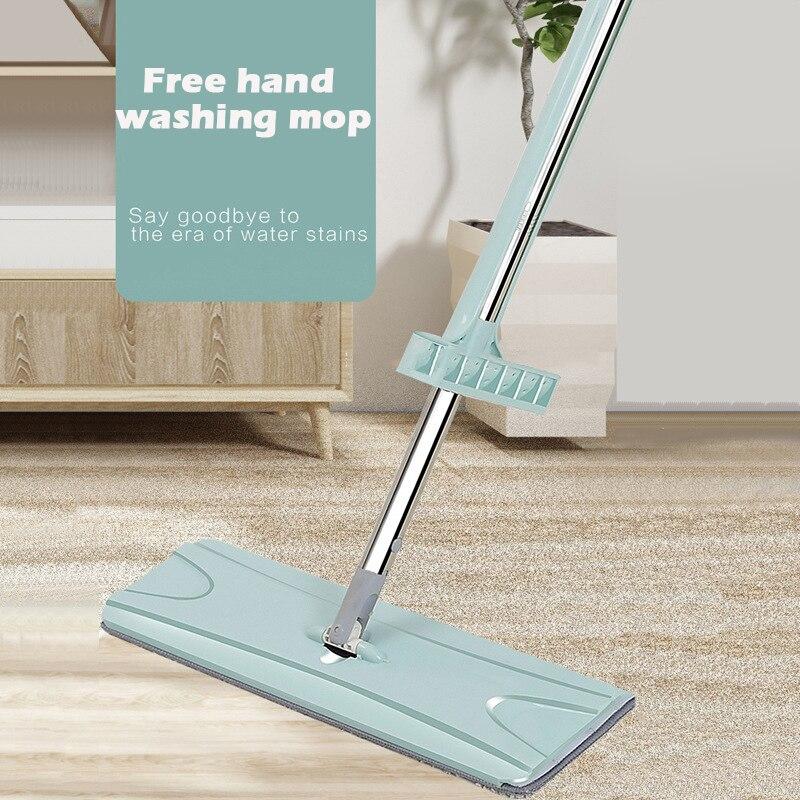 -Wringing fregona mágica mano libre lavadora plana trapeador automático girar 360 giratoria madera fregona limpiador perezoso de limpieza del hogar