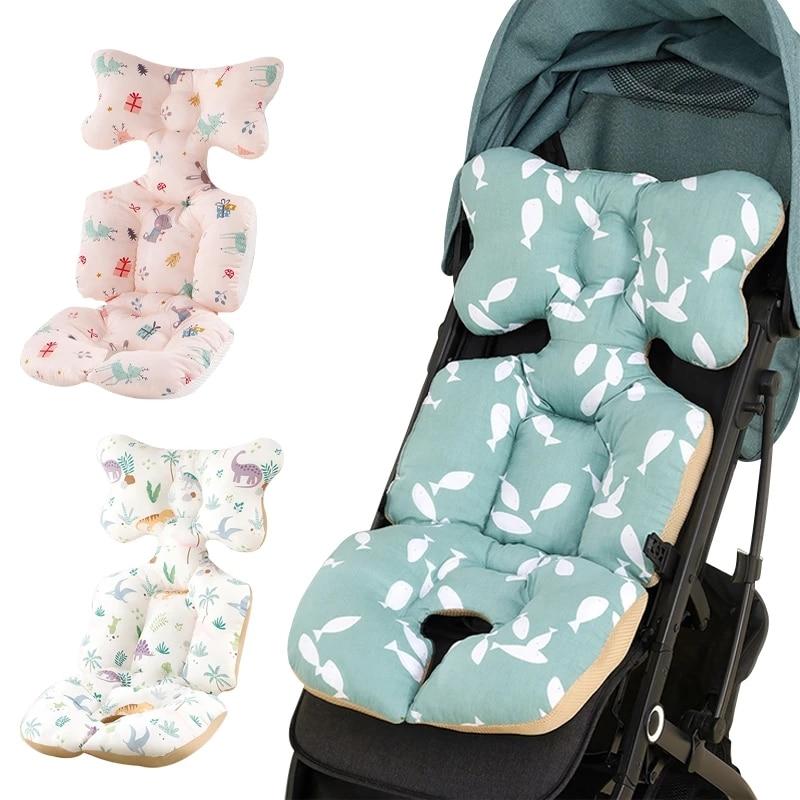 Подкладка для детской коляски, подушка для автомобильного сиденья, хлопковая подушка для сиденья, матрас для детской коляски, коврик для де...
