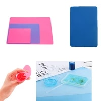 transparent silicone place mat table mats anti skidding washable durable easy to clean epoxy resin for diy jewelry making tools