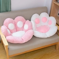chair cushions cute cat paw shape plush seat cushions for home office hotel cafe modern home cushion