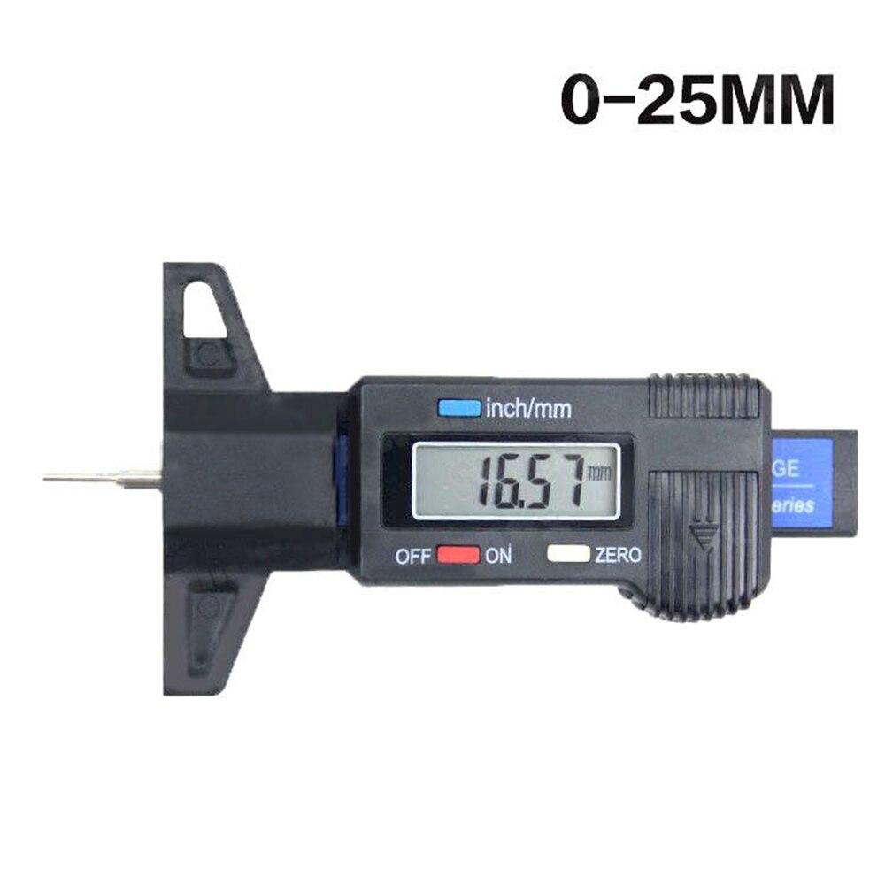 Car Digital Tyre Tire Tread Depth Tester Gauge 0-25.4mm Meter Measurer Tool Caliper LCD Display Tpms Tire Monitoring System