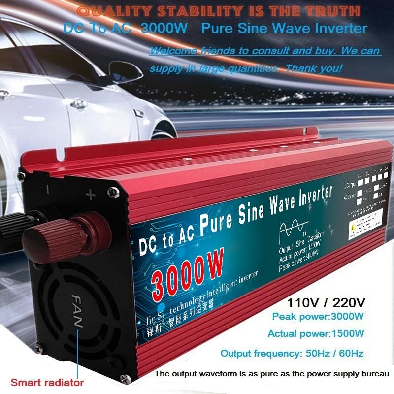 Pure Sine Wave Inverter DC 12v/24v To AC 110V/220V 1000W 1600W 2000W 3000W Voltage Transformer Power Converter Solar Inverter