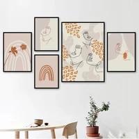 Affiche en toile de style Boho  impression murale arc-en-ciel  lignes abstraites  peintures de filles  affiches et imprimes nordiques  images modernes  decoration de maison