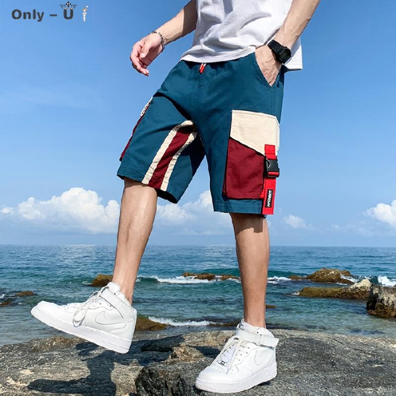 Casual men's summer wear trendy hip hop loose big pocket five point sportswear pants cargo shorts drawstring baggy Man bermuda