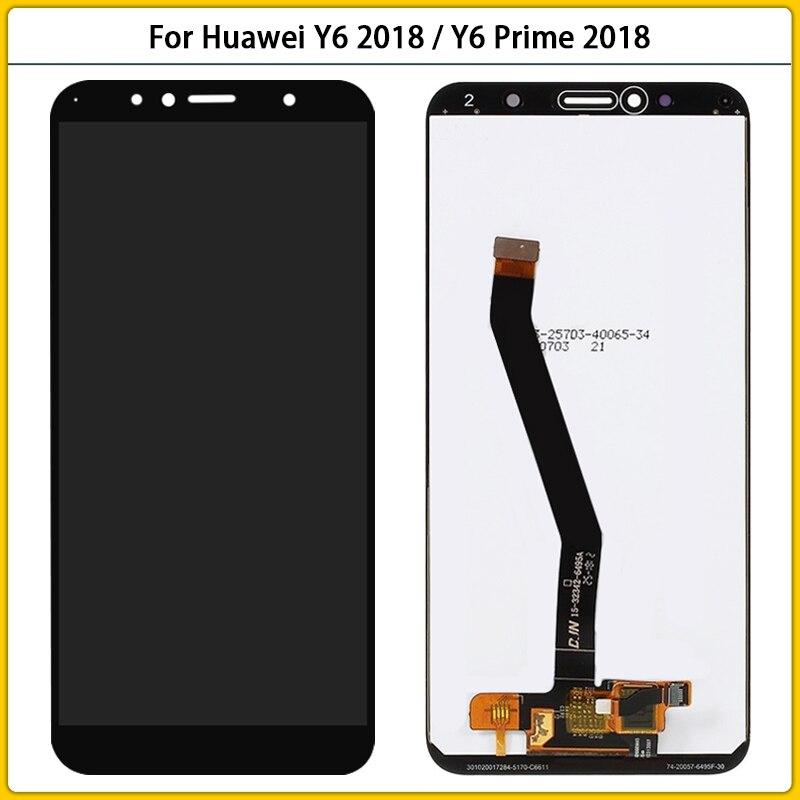 5.7 ''لهواوي Y6 2018 ATU-L11 ATU-L21 ATU-L22 LCD عرض تعمل باللمس محول الأرقام الجمعية ل Y6 رئيس 2018 LCD الشاشة Replac