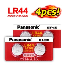 Panasonic 100% Original 4pc 1,5 V pila de botón lr44 baterías de litio A76 AG13 G13A LR44 LR1154 357A SR44