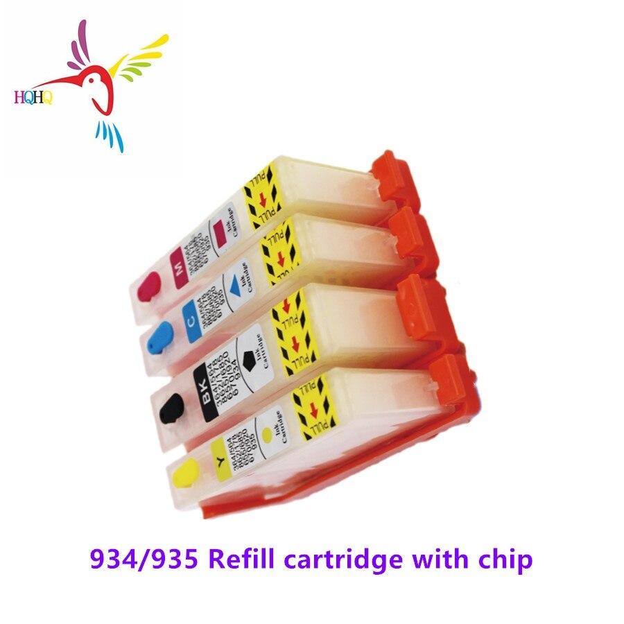 4 unids/set de recarga de tinta cartucho 934 de 935 con chip para impresora HP Officejet Pro 6230, 6830, 6815, 6812, 6835 impresoras