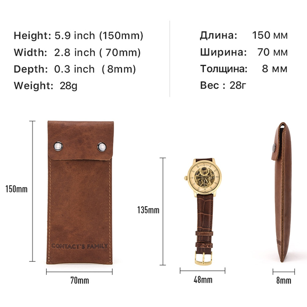 High Quality Genuine Leather watch Protect Bag New Style Lovers' Watch Storage Bags Green Leather Brand Watch Travel Bag Gift enlarge