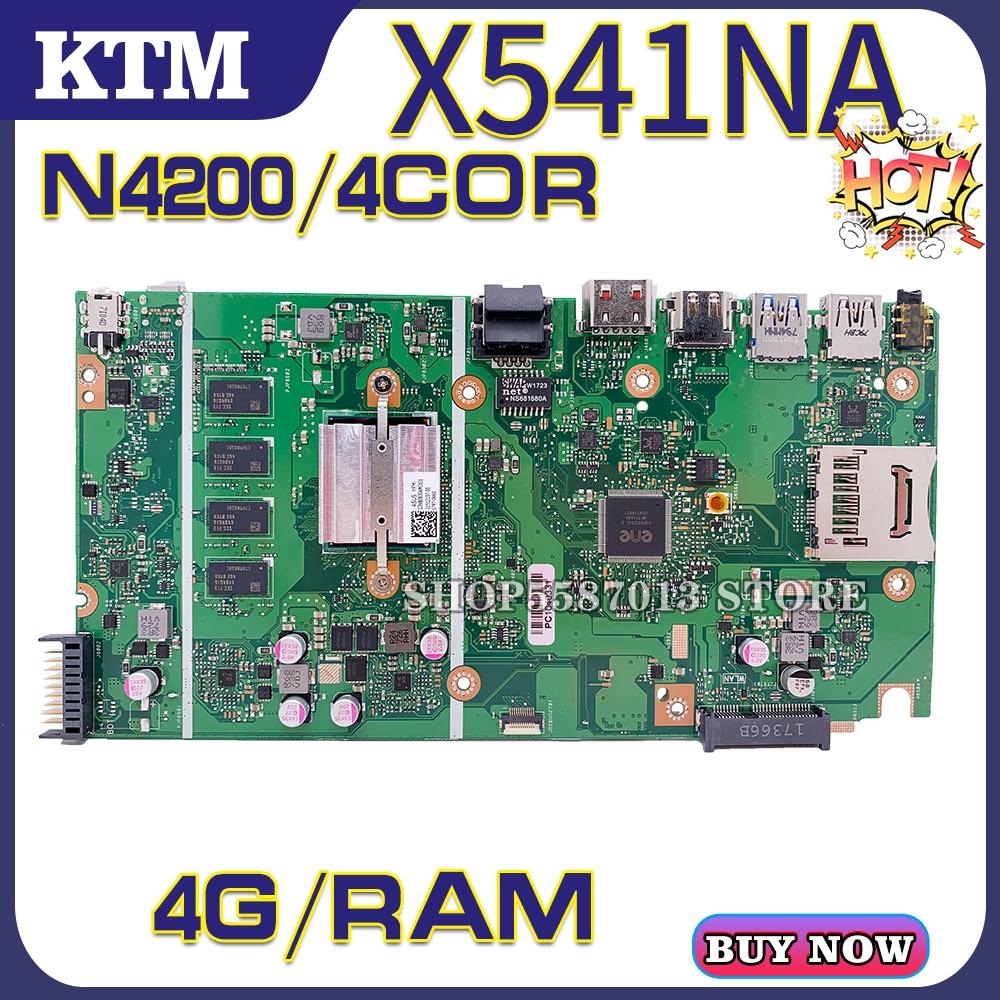 جديد! اللوحة الأم X541N لأجهزة الكمبيوتر المحمول ASUS X541NA X541 100% اختبار اللوحة الرئيسية الأصلية N4200 4G RAM