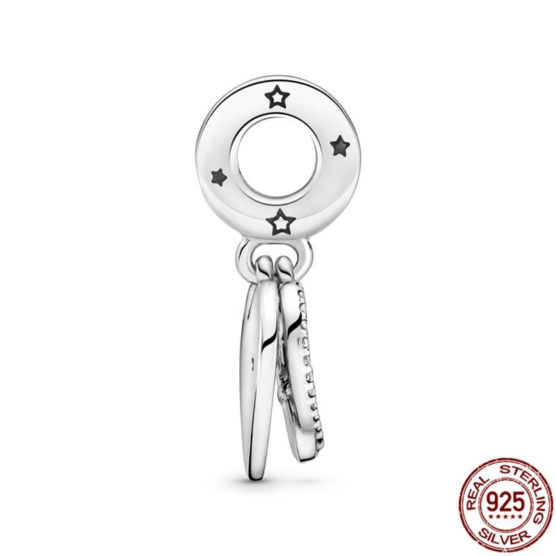 925 Sterling Silver Charm Of Heart-Shaped Animal Love Fit Original Pandora Bracelet&Bangle Making Fashion DIY Jewelry For Women