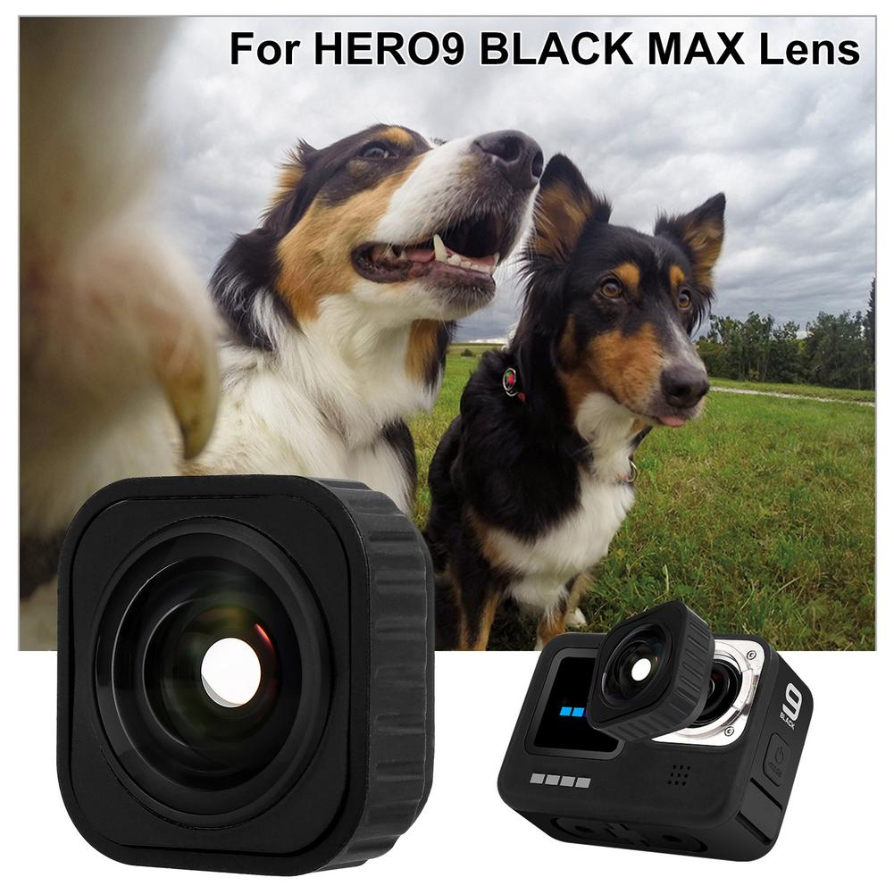 For GoPro9 Max Lens Optional Components Ultra-wide Angle Lens Gopro Hero9 Interchangeable MAX Lens Accessories Black Waterproof