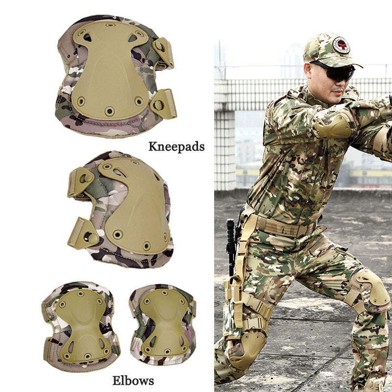 Military Tactical Knee Pad Army SWAT Battle Combat Elbow Pads Protective Equipment Outdoor Airsoft H