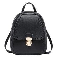 Women Ladies Cute Small Backpack Simple Shoulder Bags Crossbody Satchel Mini Slim Card Womens Backpack Girls Solid Bagpack Bags
