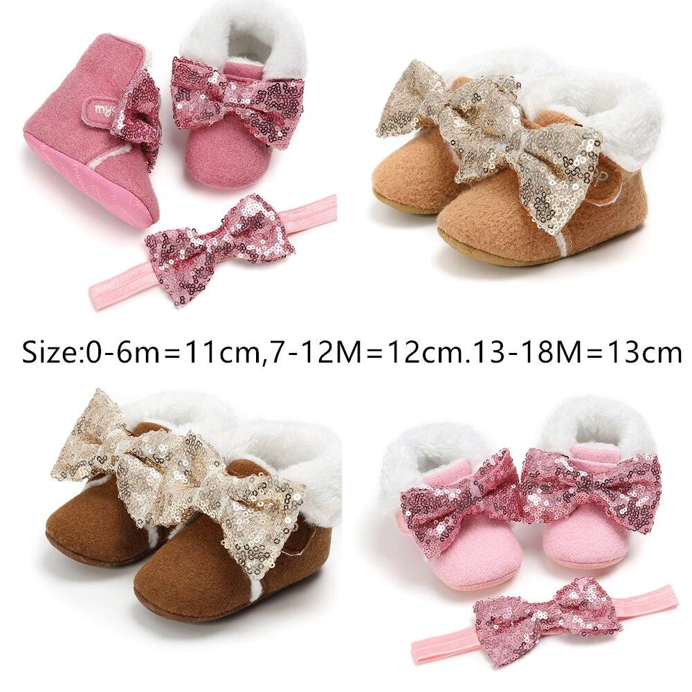 Botas de invierno para bebé, niña, botas de invierno para bebé, botas para invierno diadema