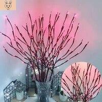 Grand Vase en forme de branche de saule  20 ampoules LED  alimente par batterie  naturel  remplisseur  branche eclairee  pour la decoration de la maison  livraison directe