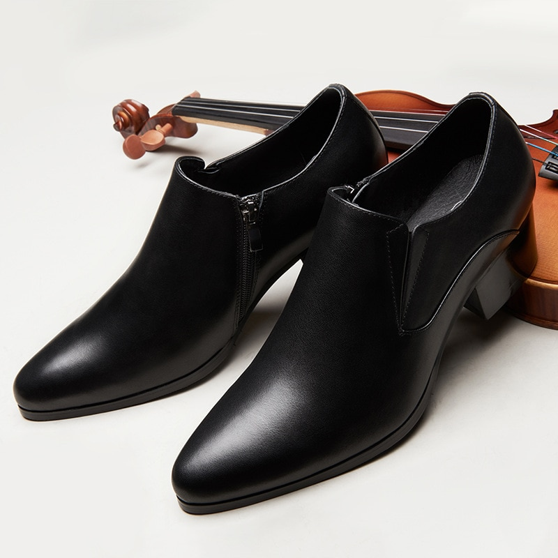 حذاء موكاسين من الجلد الطبيعي للرجال ، حذاء موكاسين سهل الارتداء ، لون بني ، غير رسمي ، مناسب للارتداء في الحفلات أو الزفاف