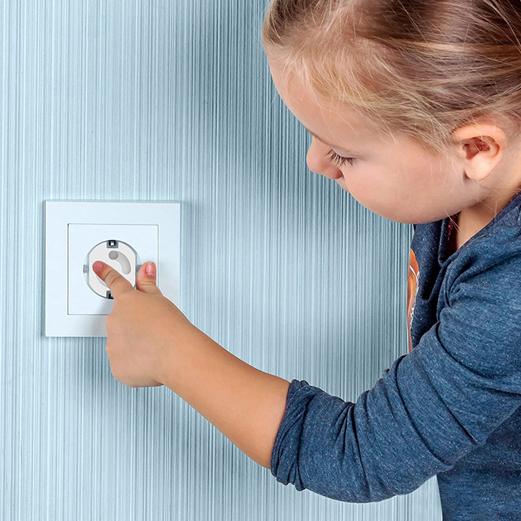 10/20pcs Baby Safety Electric Socket Outlet Plug Security  ProtectionTwo Phase Safe Lock Cover Child Kids Sockets Cover Plugs