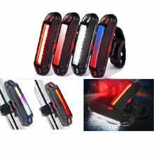 Светодиодный задний фонарь Multi Mode велосипедного Предупреждение светильник USB Перезаряжаемые велосипеда Фонари фонарь Аксессуары для велос...