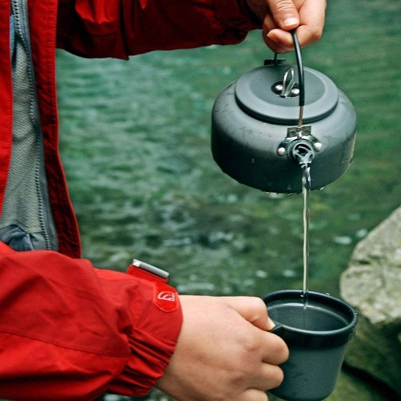 ALOCS hervidor de agua para exterior tetera café 0.8L de aluminio para Picnic Camping de senderismo de viajes