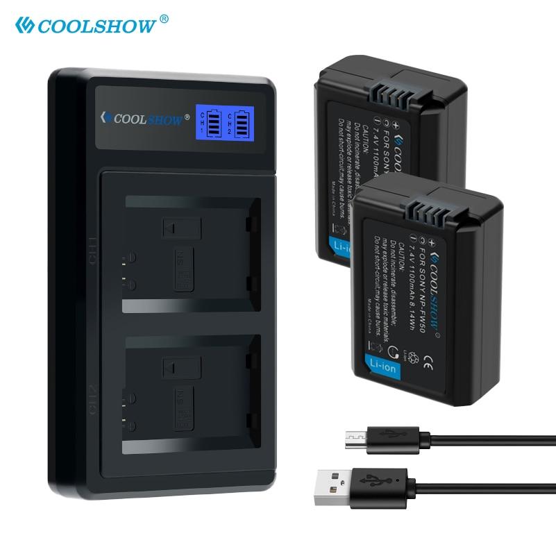 NP-FW50 Cargador de baterías para Sony Alpha a6500 a6300 a6000 a5000 a3000...