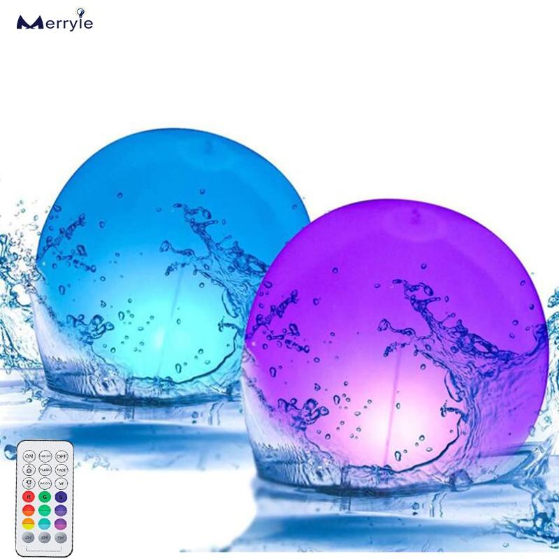 luz led subaquatica de 16 cores a prova dagua com controle remoto sem fio luz flutuante