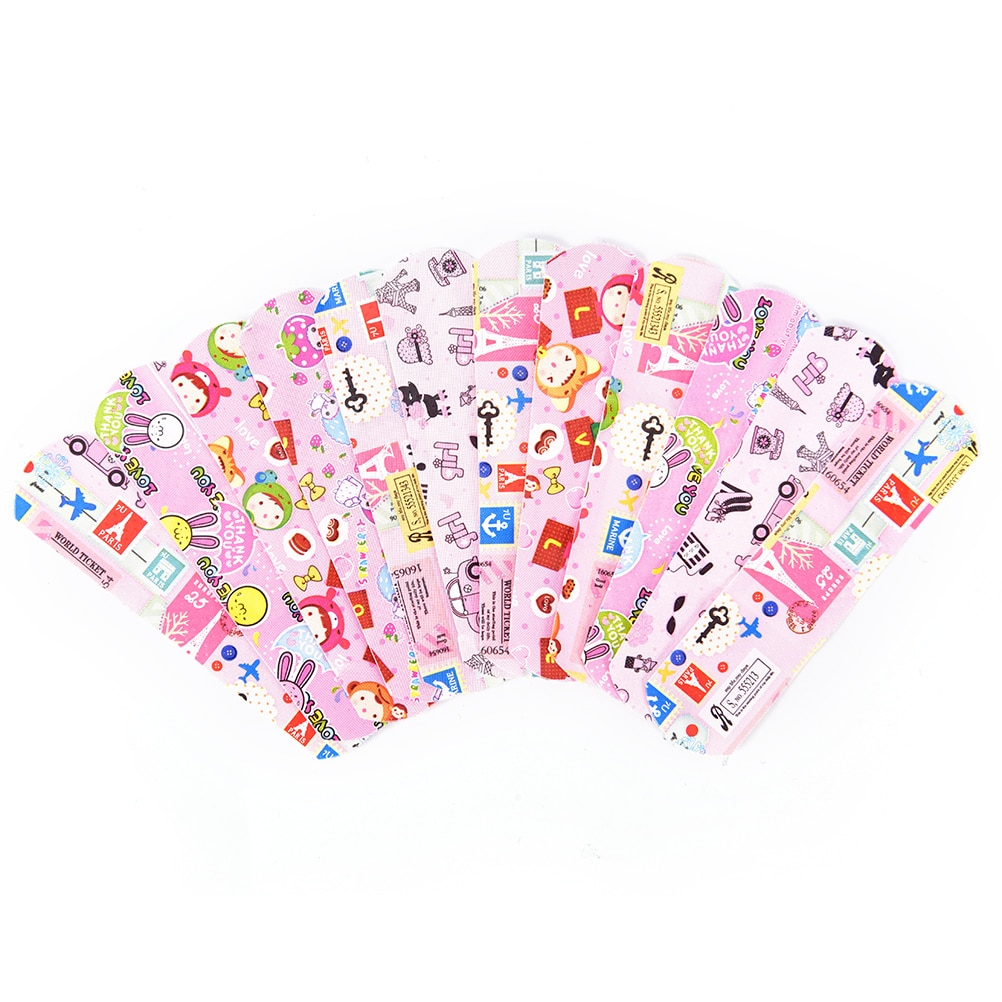 50PCS Breathable Cute Cartoon Band Aid Hemostasis Adhesive Bandages Waterproof First Aid Emergency Kit For Kids Children