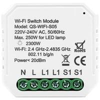 Interrupteur lumineux intelligent WiFi  Module de disjoncteur  bricolage  application Smart Life Tuya  telecommande  fonctionne avec Alexa Echo Google Home