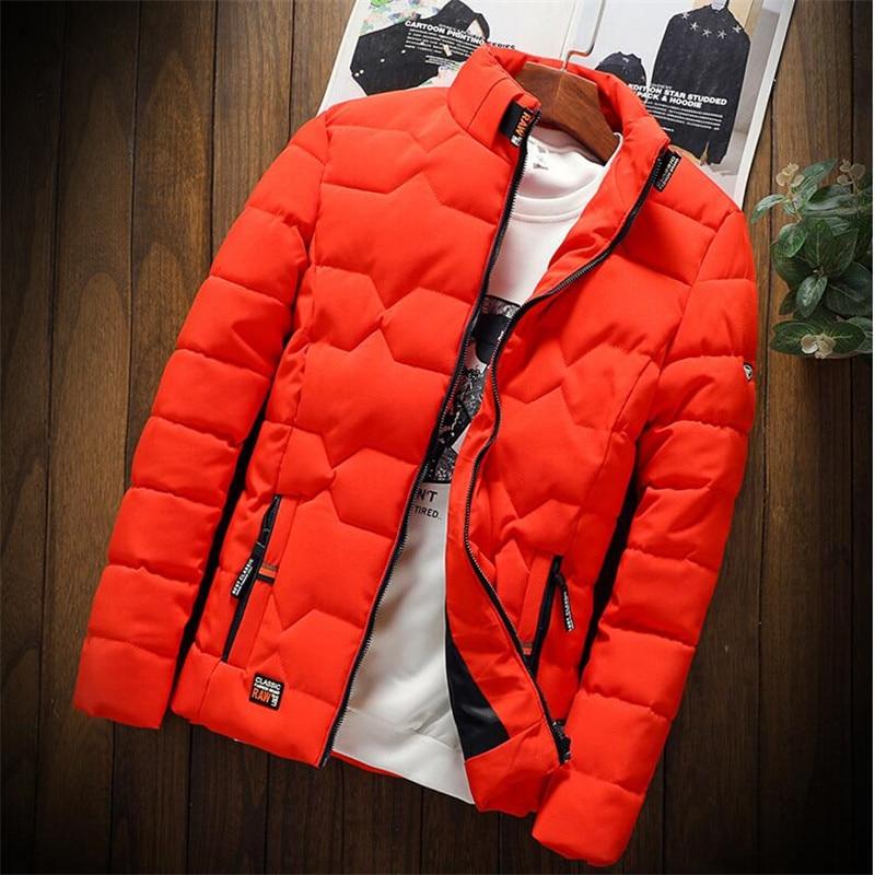 Осенне-зимняя мужская куртка, плотная теплая Толстая куртка, Мужская куртка, приталенная мужская куртка с воротником-стойкой, молодежная зи...